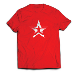 Ninja Nation Red T-Shirt with Star Kid logo on the front