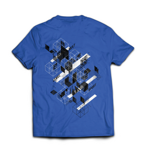 "Ninja Nation Blue T shirt with ""Next Level Sport"" on the back"