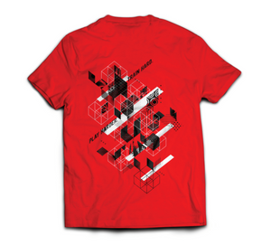 "Ninja Nation Red T-Shirt with ""Play Hard. Train Harder"" on the back"