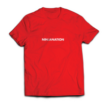 "Ninja Nation Red T-Shirt with ""Ninja Nation"" on the front"