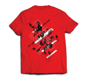 "Ninja Nation Red T-Shirt with ""Athlete Evolved"" on the back"