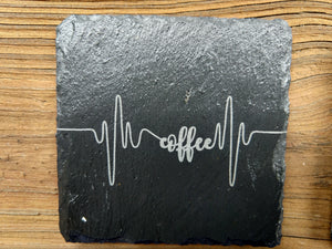 Slate Coasters with Cherry Wood Holder