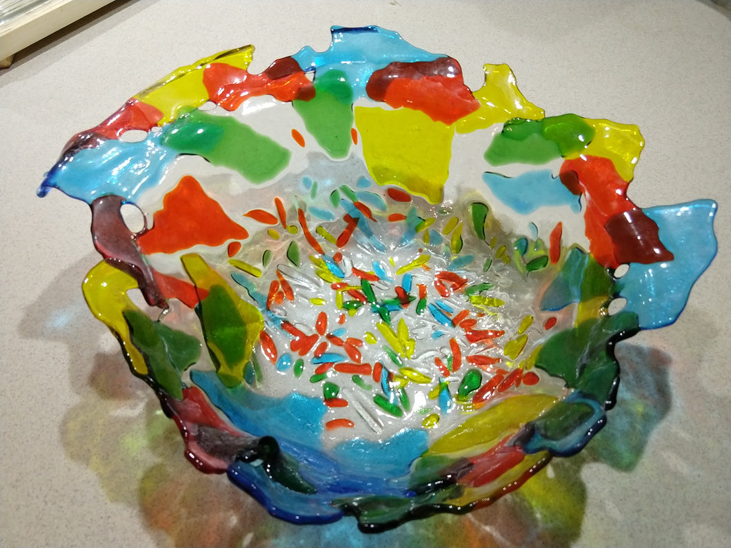 Multi-color Large Bowl