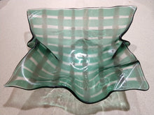 Art Glass Bowls - Green Checked