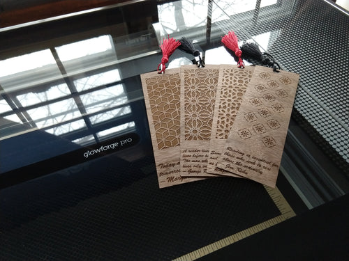 Hand made wooden bookmarks