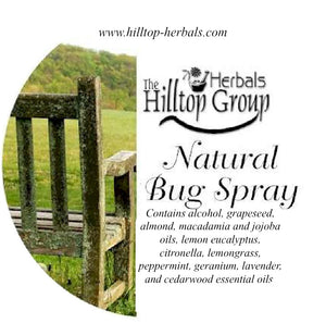 All Natural Bug Spray label