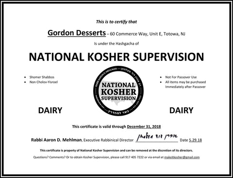 mochidoki kosher certification