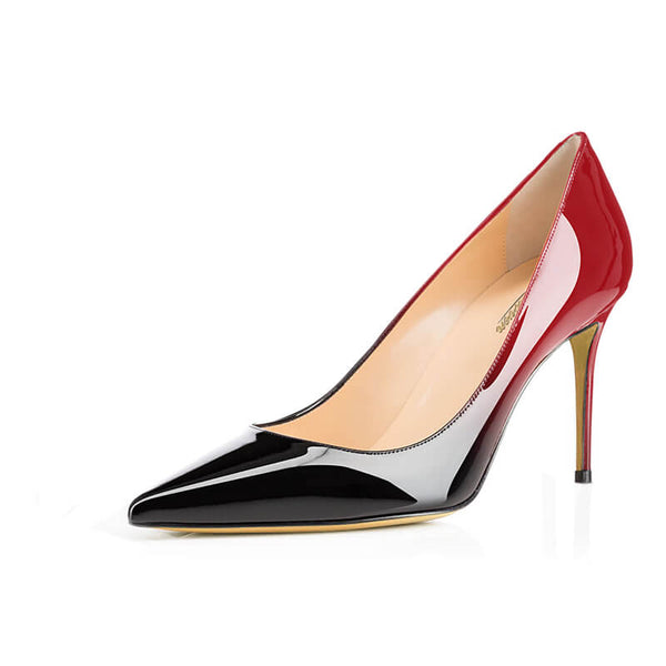 Modemoven Ombre Patent  Pointed Toe Pumps - Modemoven