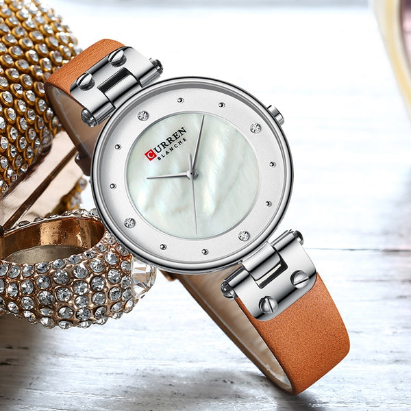 Curren Watch Women Top Brand Luxury Watches Quartz Waterproof Women's Wristwatch Ladies Girls Fashion Clock relogios feminino - Modemoven