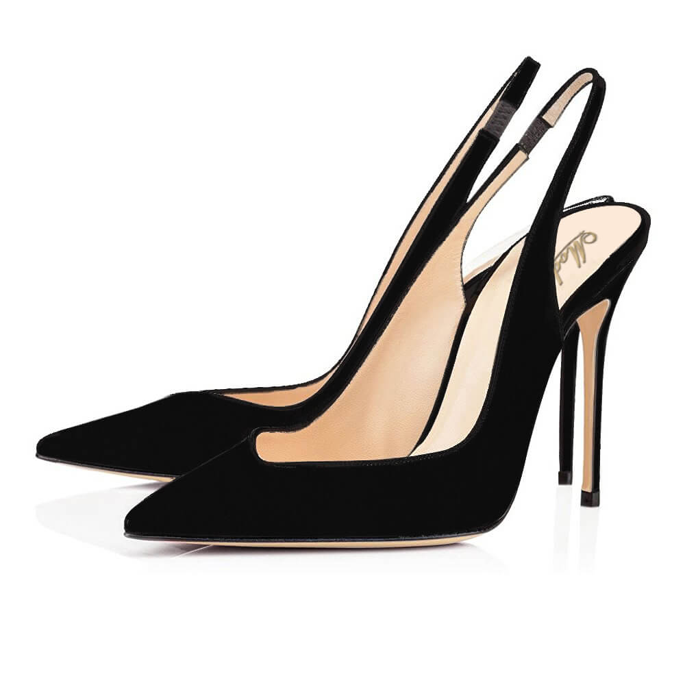 Modemoven Fashion Style Pumps Pointed Toe (Black)