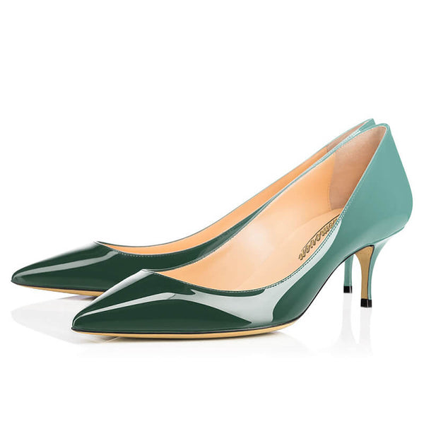 Modemoven Pointy Toe High Heels (Jade-Green/Sky-Blue)