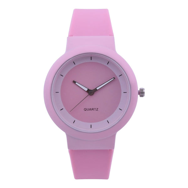 Woman Fashion Silicone Band Analog Quartz Round Wrist Watch Watches Rhinestone quartz watch relogio feminino the women wrist A40 - Modemoven