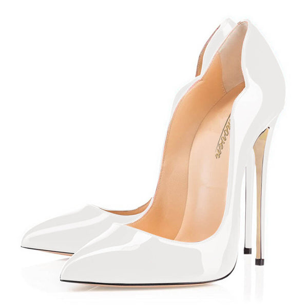 Modemoven Point Toe High Heels (White/Black/Nude) - Modemoven