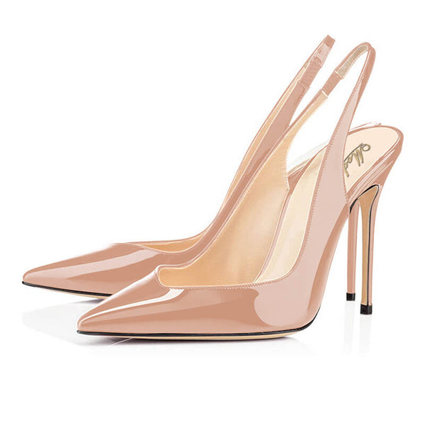 Modemoven Patent Leather Stiletto High Heels - Modemoven