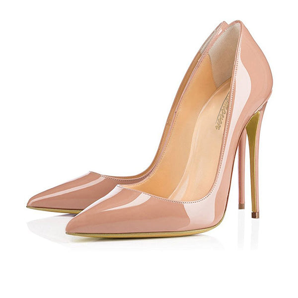 Modemoven High Heels Stilettos Pumps (Beige/Black) - Modemoven