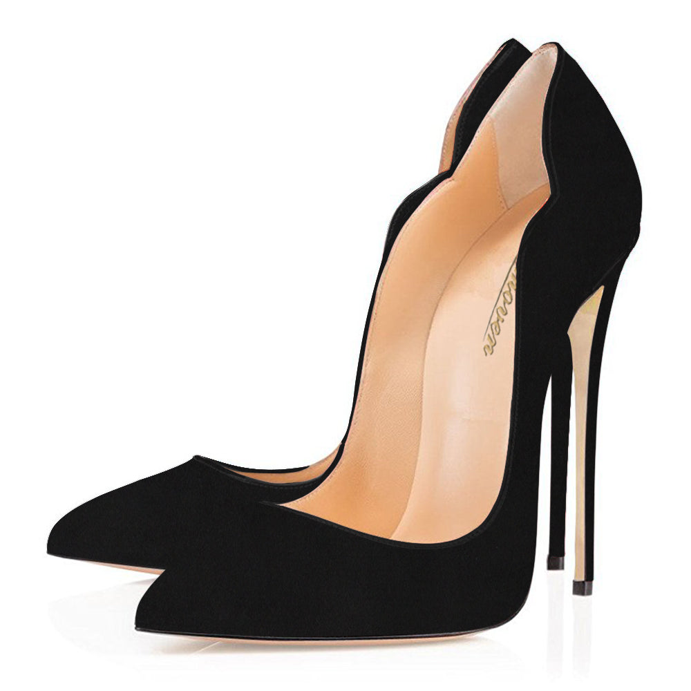 Modemoven Black Suede Pumps