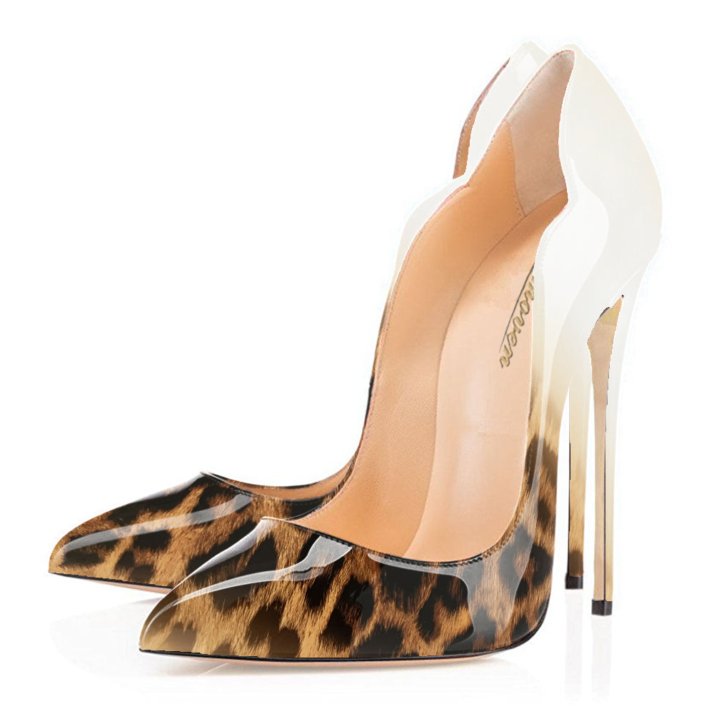 Modemoven Pointed Toe High Heels Leopard Style - Modemoven