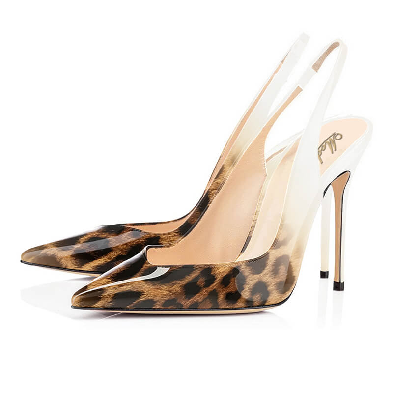 Modemoven Pointed Toe Leopard Pumps High Heels
