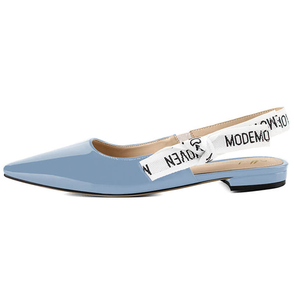 Modemoven Patent Leather Sling-Back Flats - Modemoven