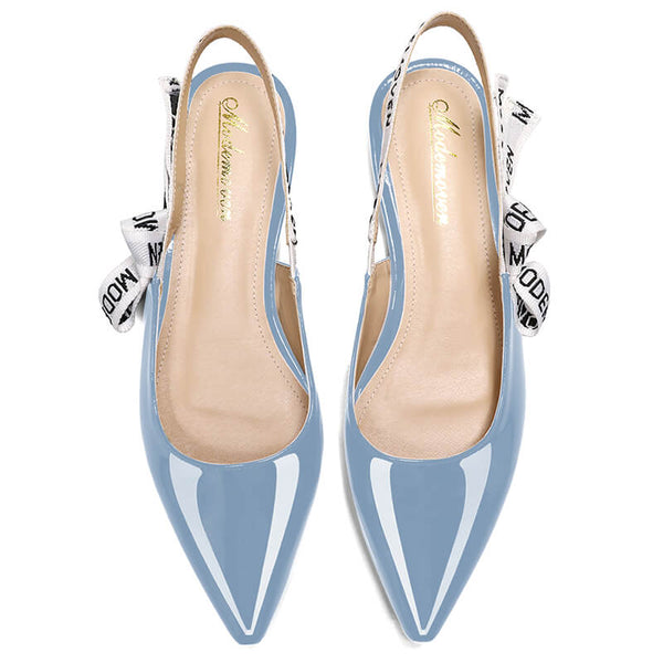 Modemoven Patent Leather Sling-Back Flats