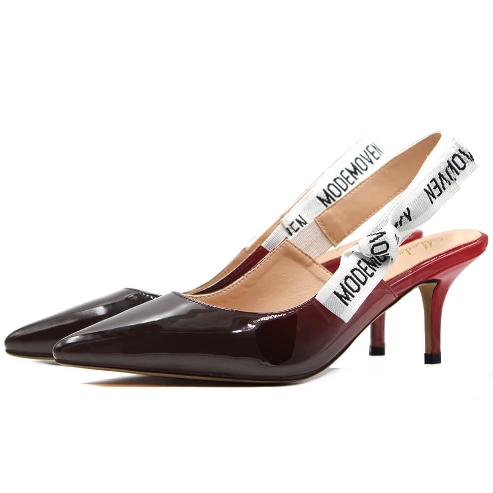 Modemoven Sling-Back Fashion Pumps - Modemoven