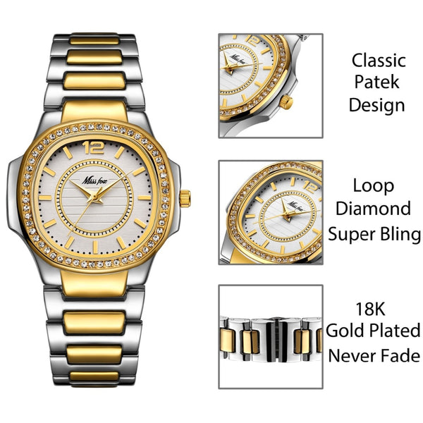 Women Watches Women Fashion Watch 2019 Geneva Designer Ladies Watch Luxury Brand Diamond Quartz Gold Wrist Watch Gifts For Women - Modemoven