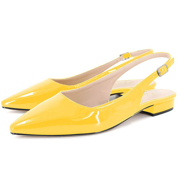 Modemoven Patent Leather Slingback Flats - Modemoven