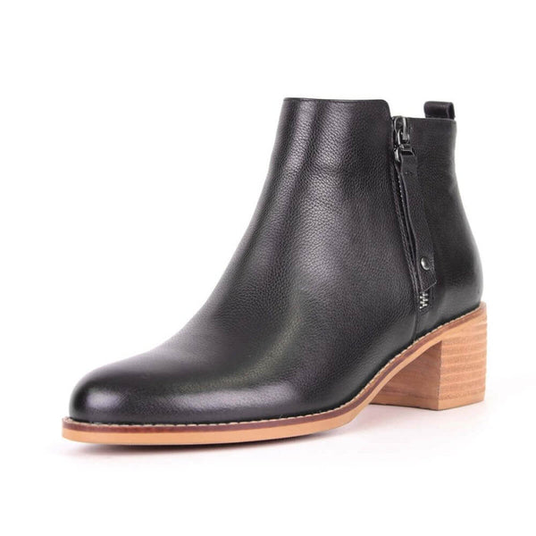 Modemoven Black Leather Ankle Boots - Modemoven