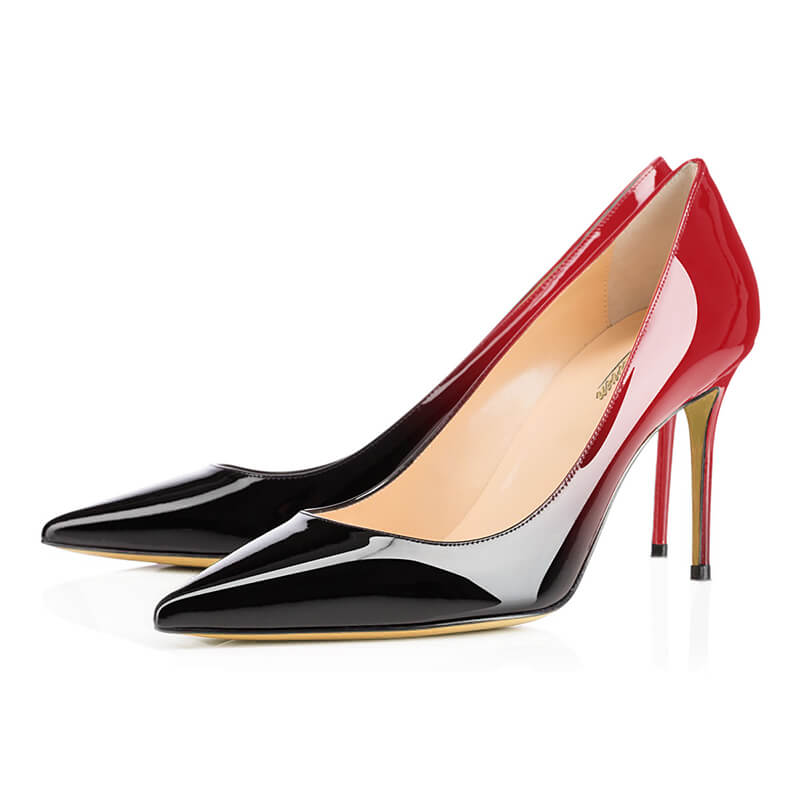 Modemoven Ombre Patent  Pointed Toe Pumps
