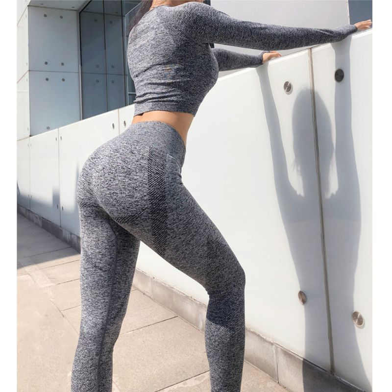 2 Pieces Women Set Fitness Seamless Suits Crop Tank Tops Legging Pants Summer Fashion Lady  Workout Tracksuit Gym Sport Suit - Modemoven