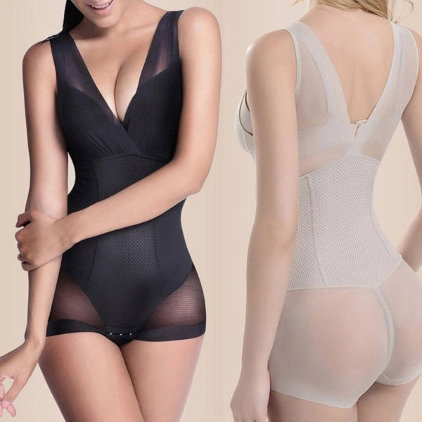 Women Slimming L-xxl Burn Fat Briefs Shapewear Tummy Slim Bodysuit Vest Bodysuits Jumpsuit Full Body Shaper Slimming Underwear - Modemoven