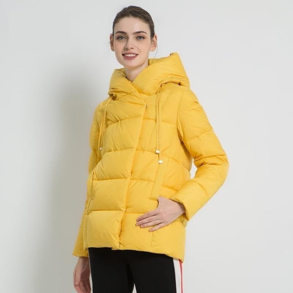2019 new winter women's coat brand clothing casual ladies winter jacket warm ladies short hooded Apparel GWD19011 - Modemoven