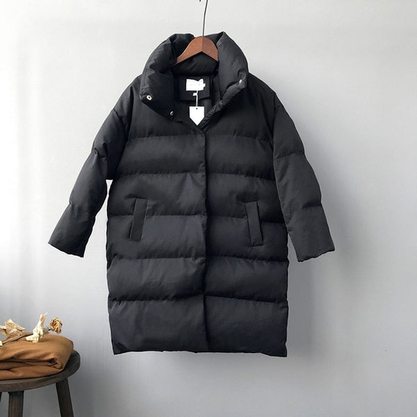 Thick  Jacket Women Winter 2019 Outerwear Coats Female Long Casual Warm  Oversize puffer jacket Parka branded - Modemoven
