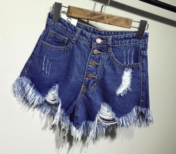 female fashion casual summer cool women denim Shorts high waists fur-lined leg-openings Plus size sexy short Jeans - Modemoven