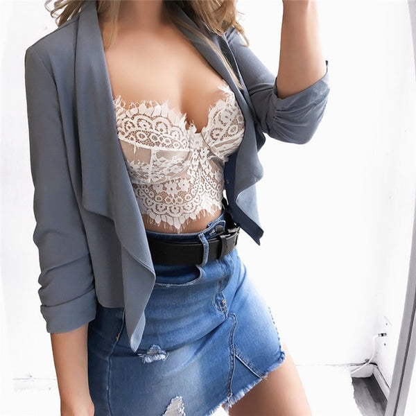 Harness Perspective Bikini Top Underwear Bralett Lace Strap Wrapped Chest Shirt Top Woman Lace Hollow Tanks Camis Bra Underwear - Modemoven