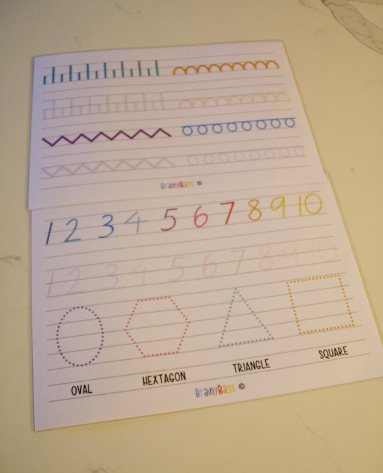 Pre School Letter Trace (downloadable)