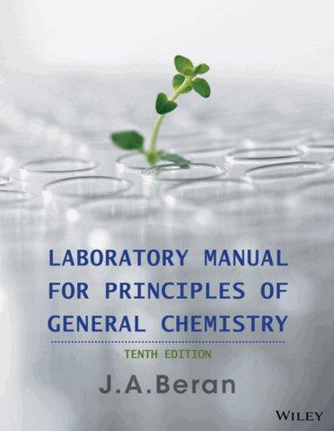 Laboratory Manual for Principles of General Chemistry 10th Edition PDF