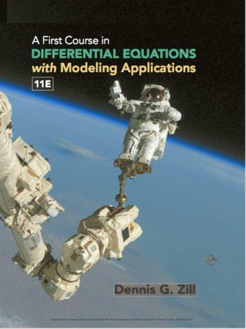 A First Course in Differential Equations with Modeling Applications 11th Edition PDF
