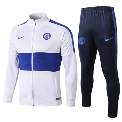 Chelsea 2019/20 White Blue FULL Tracksuit
