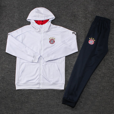 Bayern White Hoodie Suits
