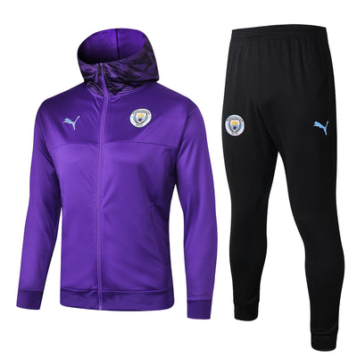Manchester City Purple Hoodie Suits