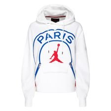 Nike Fleece Hoodie Jordan x PSG - White/Hyper Cobalt/University Red Woman LIMITED EDITION