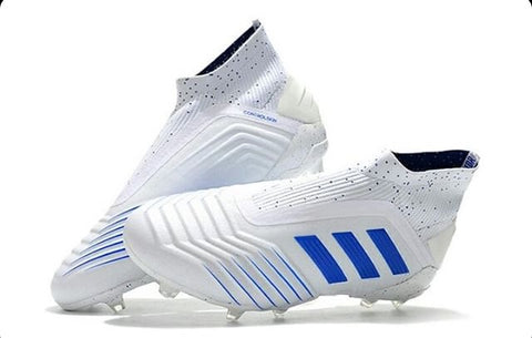 ADIDAS PREDATOR 19+ FG FIRM GROUND SOCCER CLEATS WHITE/BLUE