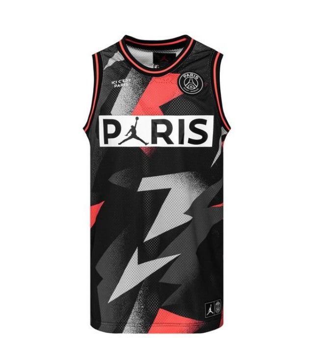 Nike Tank Top Mesh 23 Jordan x PSG BlackRed LIMITED EDITION