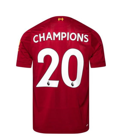 Liverpool Home Shirt 2019/20 Champions 20