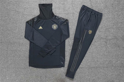 Manchester United Black Snood Tracksuit