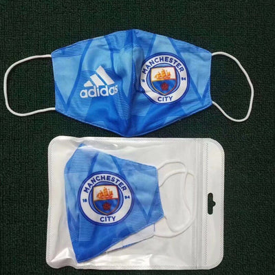 Manchester City Home Face Mask