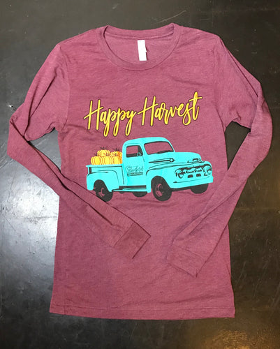 Happy harvest long sleeve Triblend tee