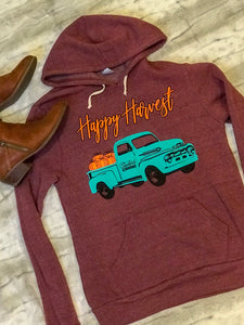 Happy Harvest Triblend Hooded Sweatshirt