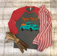 Happy harvest 3/4 sleeve Triblend T-shirt